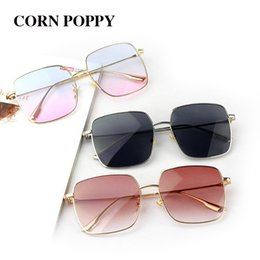Discount round face sunglasses - Net red with big frame round face 4 square glasses of women's fashion box gold silk sunglasses without makeup sunglasses