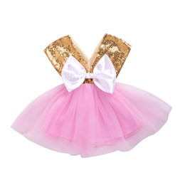 $enCountryForm.capitalKeyWord UK - 2018 Baby Girl Summer Clothes Cute Infant Girl Sequin Princess Party Birthday Pageant Dress Kids Baby Girl Tutu Dress with Back Big Bow