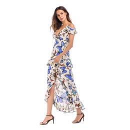 $enCountryForm.capitalKeyWord Canada - 2018 New Sexy V Collar Print Dress Hot Like Instagram Style Women Dress With Print Street Style Dresses Fairy Skirt