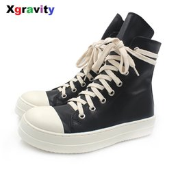 Flat elegant boots women online shopping - Xgravity Mid Calf Lady Casual Black Flat Sneaker Elegant Woman Round Toe Fashion Boots European American Woman Autumn Shoes C251