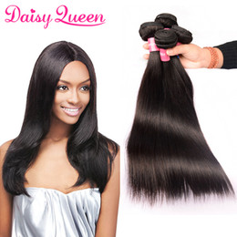 $enCountryForm.capitalKeyWord NZ - Indian Straight Remy Hair Extensions 4pcs lot Unprocessed Indian Virgin Hair Weave Bundles Wholesale 8A Cheap Human Hair Straight Bundles