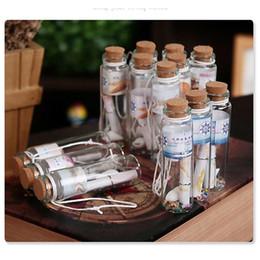 $enCountryForm.capitalKeyWord NZ - 12pcs box Vintage Sea Shell Wish Bottles Small Wooden Plug Lucky Floating Bottles (Random Style)