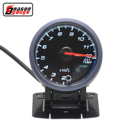 Dragon gauge 60mm Self-test function Stepper motor Auto Car Ext Temp Meter Exhaust Gas Temperature Gauge on Sale