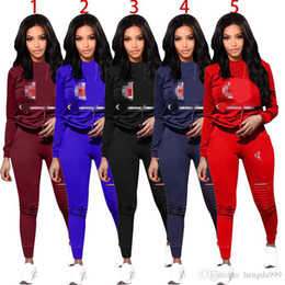 Wholesale Women Sport Tracksuit Hoodies Pants Piece Woman Set Outfit Hollow Out Solid Color Womens Sweat Suits Sweatsuits Clothes Clothing