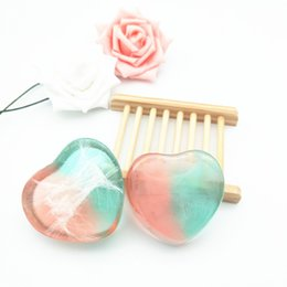 $enCountryForm.capitalKeyWord NZ - Heart Shape Travel Handmade Essential Oil Personal Face Body Healthy Care Transparent Soap Making Handcraft Gifts