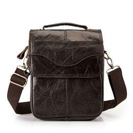 $enCountryForm.capitalKeyWord Canada - Quality Original Leather Male Casual Shoulder Messenger bag Fashion Cross-body Tote Mochila Satchel bag 144