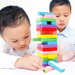 Blocks For Girls Australia - Rainbow Domino Blocks Wooden Building Colored 0-3 Years Old Girls Boys Learning Educational Toys Wood Dominos Bricks Gift For Children