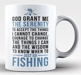 $enCountryForm.capitalKeyWord NZ - Fishing Serenity Mug - 11-oz Funny Fisherman Fly Fish Coffee Mug Cup Made of White Ceramic with Large Handle is Perfect Gift Idea for Dad