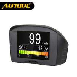multi function meters Australia - wholesale X50 Plus Multi-Function Car OBD Smart Digital Meter Alarm Water Temperature Gauge Digital Voltage Speed Meter Display