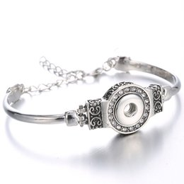 China Noosa 12mm Snap Buttons Bracelet&Bangles Jewelry Newest Design Silver Plated Vintage Rhinestone Chunks Bracelet FIt Snaps Jewelry Wholesale supplier newest design alloy suppliers