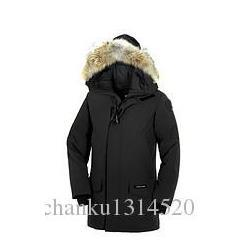 Wholesale Men s Brand WINTER thick Warm Jacket CAN Langfo P Down Parkas Big coyote Fur Collar White goose down Outerwear Coats WITH FUR HOOD