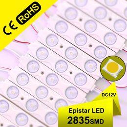 Discount pc modules - High power 100pcs lot wholesale ad light led module injection 3leds pcs waterproof IP65 2835 LED light modules dc 12v mo