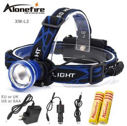Cree Xm L T6 Battery Australia - AloneFire HP87 Headlight Cree XM-L T6 L2 U3 LED 5000lm Zoom Head lamp Waterproof Head light Headlamp Rechargeable 18650 battery