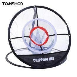 Pop-up portátil Chipping Golf Pitching Practice Net Training Aid Tool Metal Memoria Almacenamiento Fácil Plegable con bolsa de transporte TOMSHOO en venta