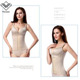 China Wechery Waist Trainer Slimming Underwear Belly Belt Modeling Strap Steel Bone Waist Cincher Underbust Fajas Plus Size Girdle cheap bones underwear suppliers