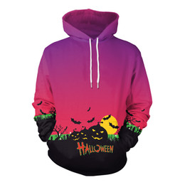 Chinese  Autumn Halloween costumes Pumkins Lantern Sweatshirt Womens Clothing Funnky Digital Print Pumpkins Oversized Hoodies Party Tops manufacturers
