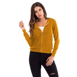 $enCountryForm.capitalKeyWord UK - New solid color hoodie sweater for women sell well zipper knit cardigan long-sleeved sweater coat Women's tops.