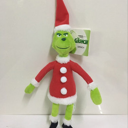 hot doll for dogs 2019 - 2018 Hot Sale 3 Style How The Grinch Stole Christmas Plush Stuffed Doll Toy For Children Holiday Gifts 18-38cm Free Ship