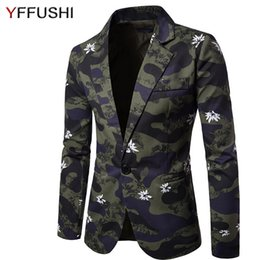 $enCountryForm.capitalKeyWord Canada - YFFUSHI 2017 New Arrival Men Suit Jacket Fashion Floral Print Amy Green Camouflage Jacket Masculino Casual Style Slim Fit