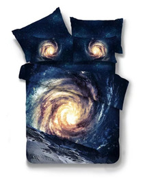 king size 3d galaxy bedding 2019 - 3d Galaxy Cheap Bedding Sets Twin Queen Size Universe Outer Space Themed Bedspread 2 3 4pcs Bed Linen Bed Sheets Duvet C