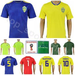 0ea144920 Men Sweden Jersey 2018 World Cup 8 EKDAL 10 FORSBERG 1 OLSEN Football Shirt  Kits Goalkeeper 5 OLSSON 6 AUGUSTINSSON National Team Yellow