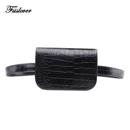 ladies leather travel wallet 2019 - 2018 Hight quality Vintage PU Leather Waist Bag Women Alligator Waist Pack Travel Belt Wallets Fanny Bags Ladies Dropshi