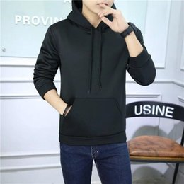 sport men style hoodies 2019 - Men's Hoodie in spring and autumn color long sleeve head Lapel coat Hoody new style of leisure sports discount spor