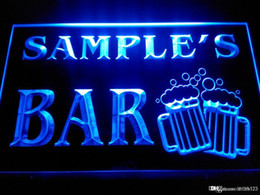 Discount custom home bar signs - DZ028-b Name Personalized Custom Home Bar Beer Mugs Cheers Neon Sign