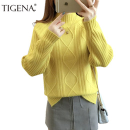 822d60eea0 Women S Thick Turtleneck Sweaters Canada - TIGENA 2018 Thick Warm Winter  Sweater Female Long Sleeve