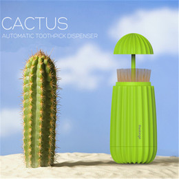 $enCountryForm.capitalKeyWord Australia - 1Pc Creative Cactus Shape Toothpick Holders Automatic Toothpicks Box Dispenser Home Bar Table Tools Accessories