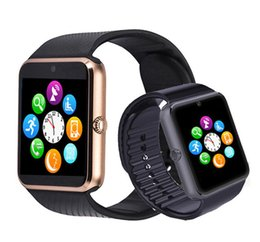 Bluetooth Smart Watch Sim Australia - GT08 Bluetooth Smart Watch Support TF SIM card with Passometer Camera Call Smartwatch For IOS Android Phone