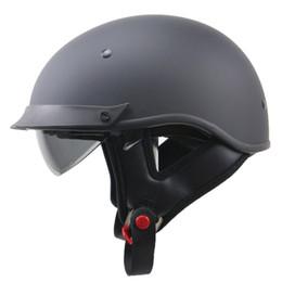 M Sunglasses Brands UK - Brand New Harley Style Motorbike Helmet DOT approved Retro Helmet with Black Sunglasses Fast Quick Buckle Safety Bike