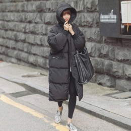 Chinese  Black Plus Size Korea Fashion Female Outwear Thick Warm Parka Oversize Fur Duck Down Winter Coat Women Retro With Hood MZ1072 manufacturers