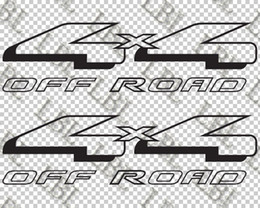 Body Stickers For Truck Australia - For (2Pcs)2x Ford 4x4 Off Road truck car window body vinyl decal sticker 14""