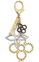 Charm Schlüsselhalter Blumen perforiert Mahina Leder Schlüsselhalter TAPAGE BAG CHARM M65090 Tasche kommt mit Box Staubbeutel