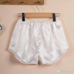 Women Sexy Silk Satin Sleep Bottoms Elastic Waist Pajama Pants Summer  Pijama Shorts Ladies Pajama Bottoms Sleep Short Pant e499a1ff4
