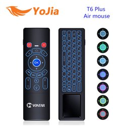 Discount wireless keyboards colors - Yojia 7 Colors 2.4G Wireless keyboard T6 Backlight T6 Plus Fly Air mouse touchpad Remote Control for Android TV Box mini