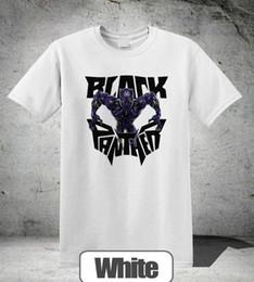 923c864667c Black Panther T-shirt Neon Face Wakanda Marvel Movie White Colour Top 2 T- Shirt 2018 Fashion Men top tee