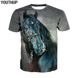 YOUTHUP 2018 Horse T shirt For Men 3d Print Animal T Shirt Casual Fashion 3d  Short Sleeve Cool Tees Men Tops Streetwear be88270ddcb5