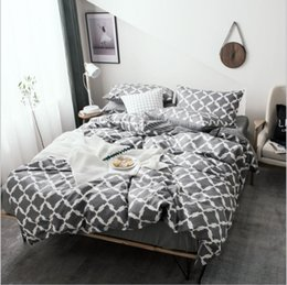 $enCountryForm.capitalKeyWord NZ - 2018 Special Offer 4 Pcs Full California King Bed Cover Bed Sheet New Simple Striped Plaid Cotton Four Piece Set Quilt Cover Home Textils