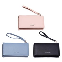 Wholesale Elegant Women Long Wallets Ladies Clutch Fashion PU Leather Purse Hasp Cell Phone Purse Holders Female Retro Wallet and Purses