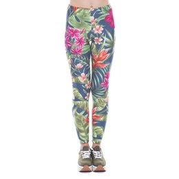 China Women Leggings Exotic Flowers 3D Print Girl Jeggings Skinny Stretchy Yoga Wear Pants Gym Fitness Pencil Fit Runner Soft Trousers (YX41427) suppliers