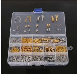 $enCountryForm.capitalKeyWord Australia - DIY Jewelry Findings Kit Bead Caps Earring Hook Lobster Clasp End Cap Jump Rings Crimp Beads Extension Chain for jewelry making