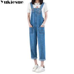 $enCountryForm.capitalKeyWord Canada - European Style Boyfriend jeans for Women Denim Overalls jeans with High Waist Straps Jumpsuit Female Girl Loose Pants