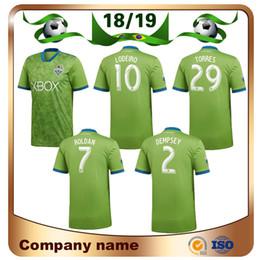 8fb17bc69 18 19 Seattle Sounders Soccer Jersey 2019 Home DEMPSEY TORRES MLS Soccer  Shirts Seattle Sounders ROLDAN MORRIS football uniform Sales