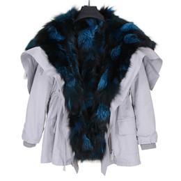 $enCountryForm.capitalKeyWord UK - Silver blue fox fur Threshold trim women snow coats silver fox fur lining white Angel Wings mid long parkas