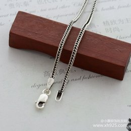 $enCountryForm.capitalKeyWord NZ - 925 sterling silver necklace, thick 1.6 mm snake chain bone female money is 70 cm long
