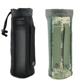 Molle water bottle pouches online shopping - Tactical Water Bottle Pouch MOLLE water kettle Holder D Nylon waterproof Travel Drawstring Drinking Bottle Carrier for Outdoor Sports