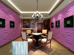 Colorfull Light NZ - Vintage home ktv hotel cafe shop More colorfull Waterproof Big wave Shape Designed Light-weight 3D PVC Wall Ceilling Panels
