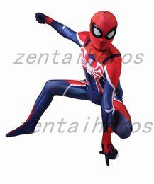 $enCountryForm.capitalKeyWord Australia - Newest Spiderman PS4 Spider-man Cosplay Superhero Costume Lycra Zentai Bodysuit Halloween Party suit